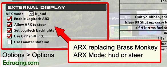 iRacing Logitech ARX
